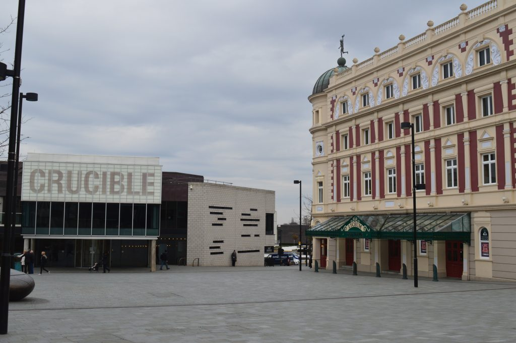 Crucible Theatre (Left) and Lyceum Theatre (right)